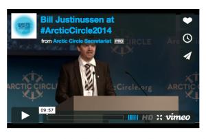 Bill Justinussen præsenteret VNR under Arctic Circle
