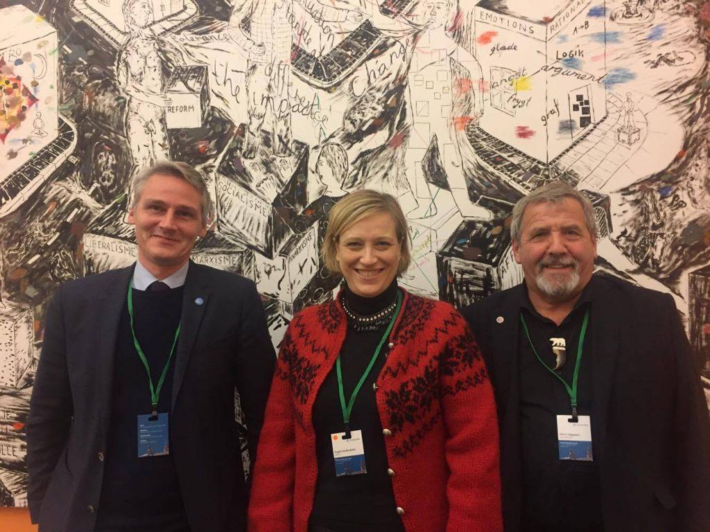 Høgni Høydal, Eygló Harðardóttir, Kári Páll Højgaard i Folketinget efter mødet mellem Rådet pg de vestnordiske samarbejdsministre